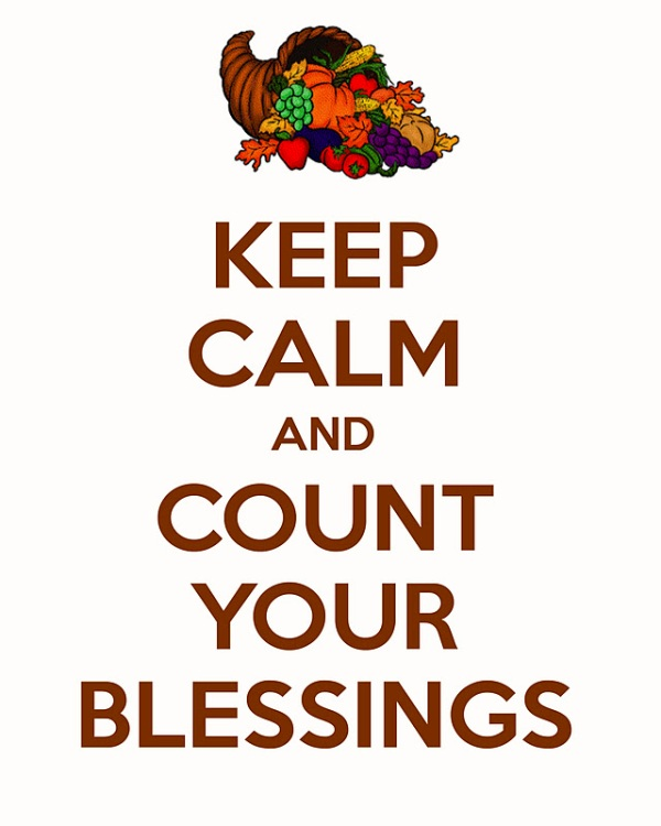 keep calm and count your blessings