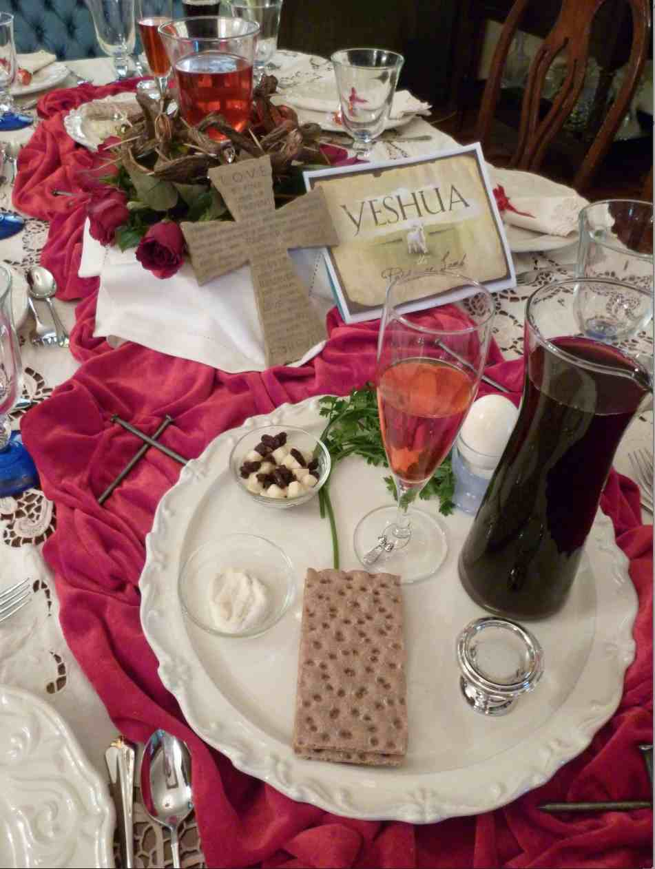 Table Setting for a Simple Christian Passover
