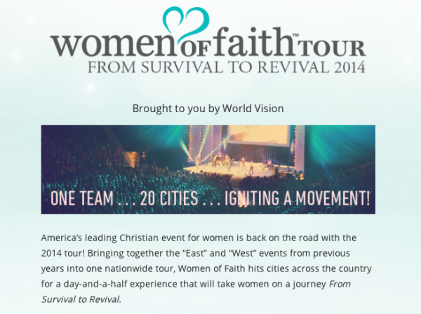 women of faith tour image