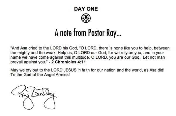 ray bentley prayer screenshot