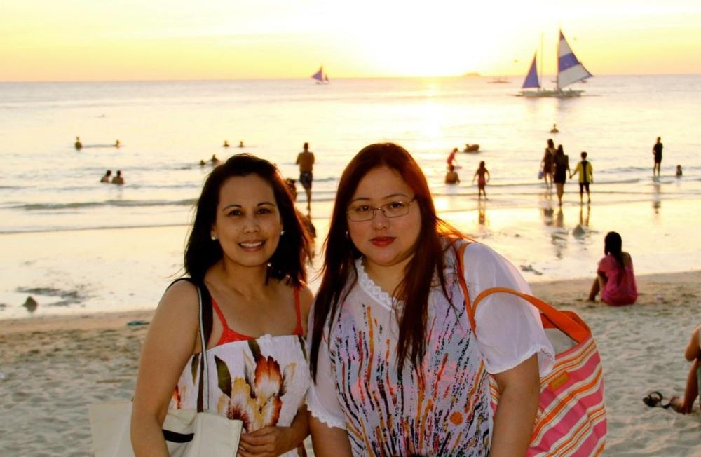 Malu and Lysa in Boracay