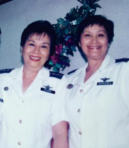 Brigadier General Ma. Amelia Aparri and Col. Thelma Borromeo