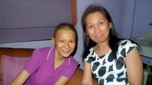 Jing with her discipler, Sasa Felipe