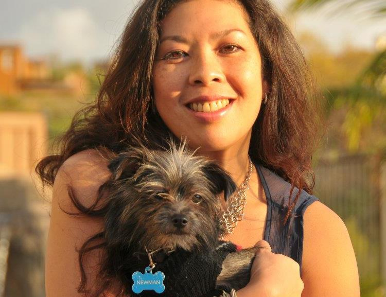 bits luisa ampil with her dog