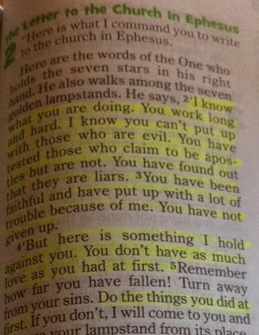 Revelation 2:2-5