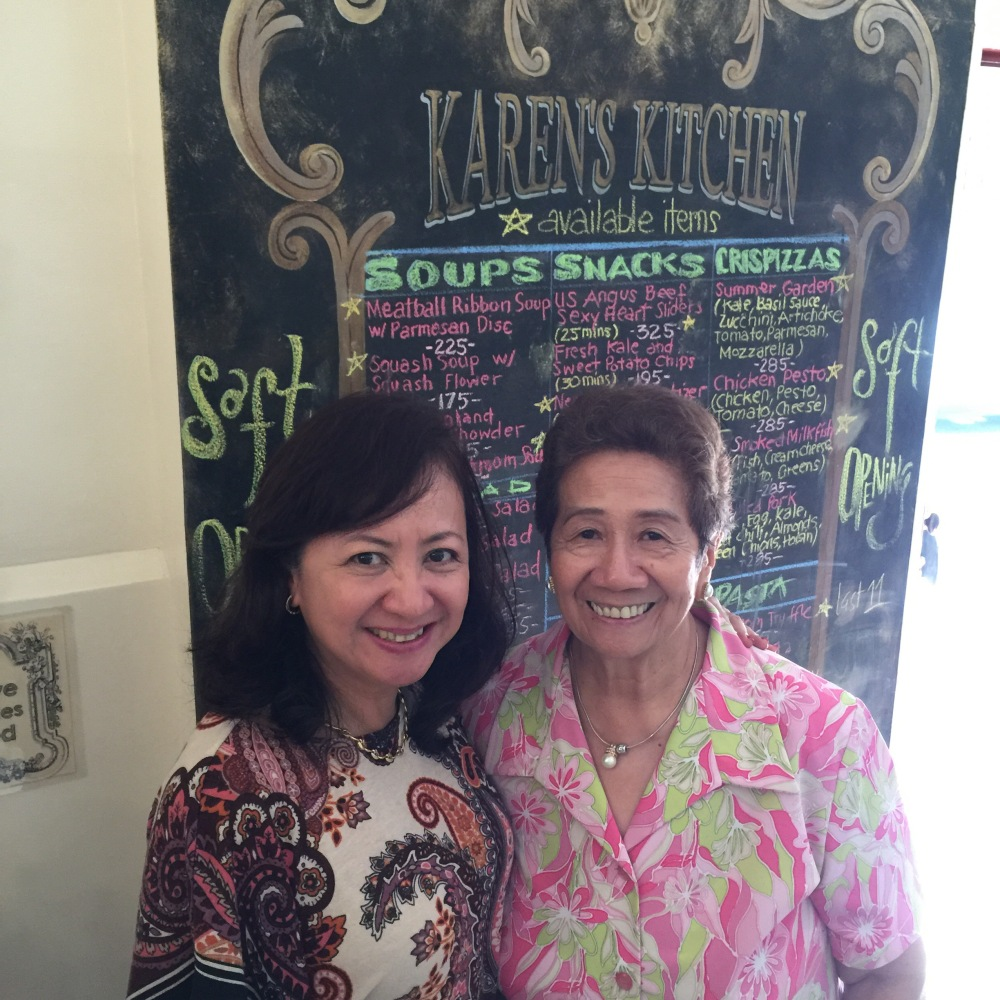 As Gia enjoyed her Lindt Truffle Iced Chocolate, she kept looking at a familiar face across the function room. Her visit to pick up my skirt turned out to be a reunion with her former Maryknoll Physics teacher, Mrs. Salazar!!!!