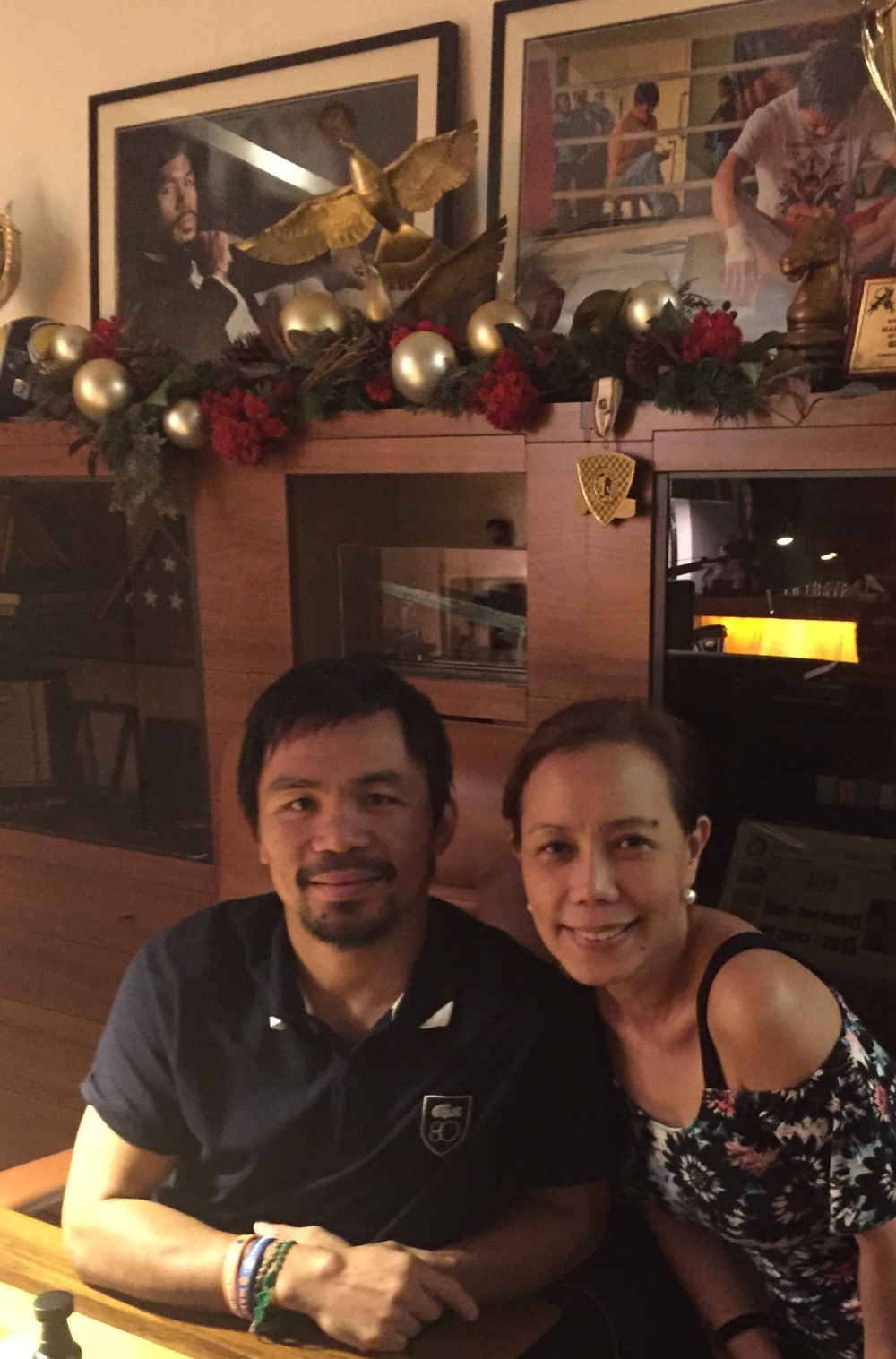 Adele and The Champ, Manny Pacquiao and his living room
