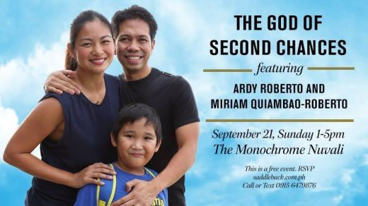 Ardy and Miriam (with Joshy) at last year's event at Saddleback Church Manila