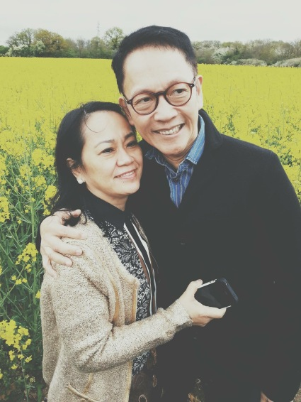 """Francis Kong with his lovely wife, Lilia whom he refers to as """"The Ilokana."""""""