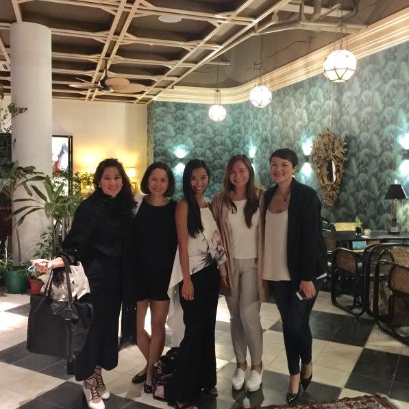 L-R: Karen Young, Maricel Laxa-Pangilinan, Nika Diwa, Abby Asistio and Guest