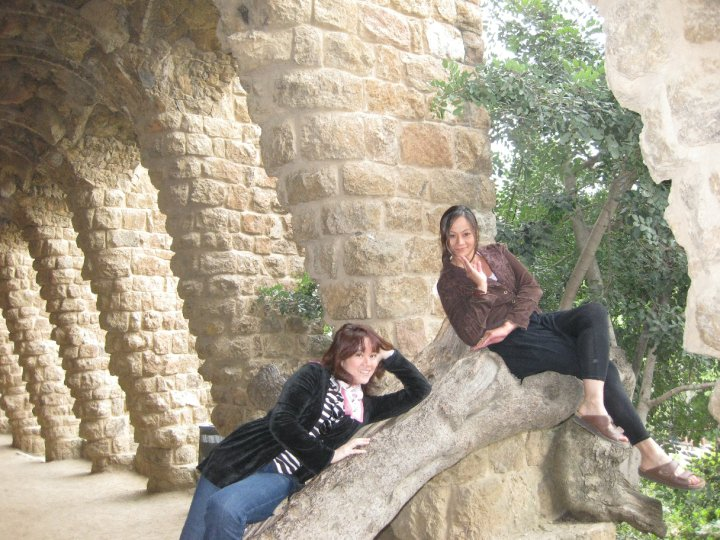 park guell tree