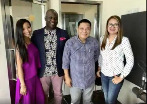 L-R: Nika Diwa, Emeka Ihedigbo, Ptr. Clem Guillermo, Ms. Haydee Sampang