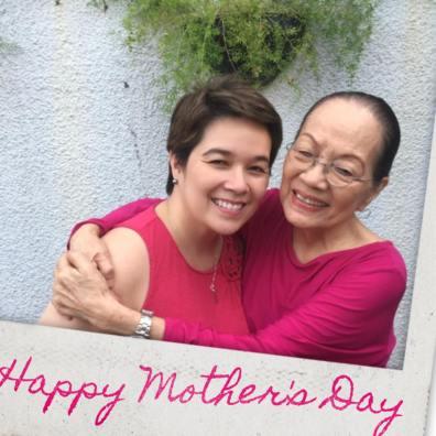 Cathy with her mom, beloved veteran actress, Caridad Sanchez