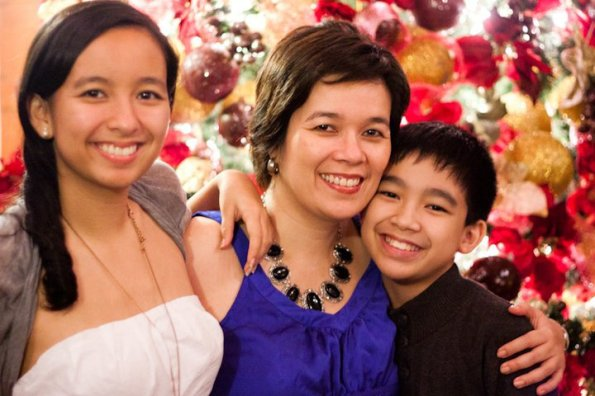 Cathy with daughter, Pia, and son, Leon.