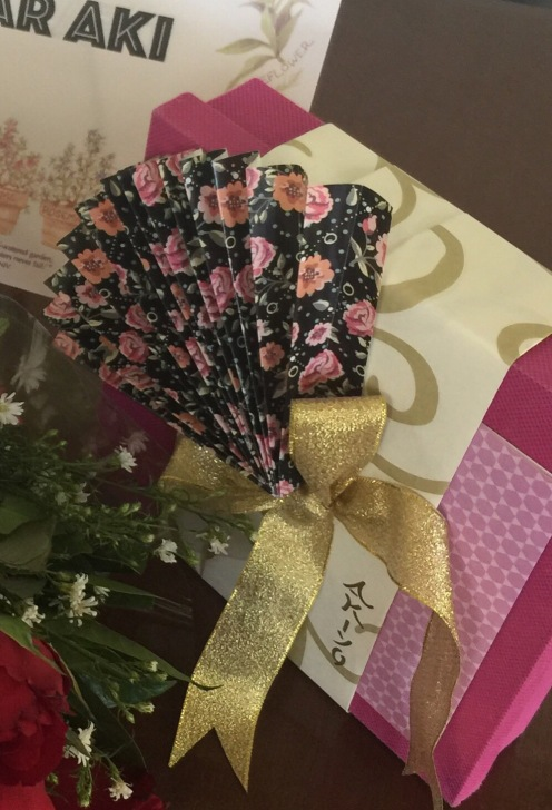 Joi's handmade Japanese-themed wrapping