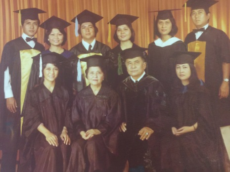 Teacher Fe and her family, all holders of Masters Degrees