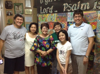 Teacher Fe with Learning Tree Alumna, Frankie Pangilinan on her last year at the school