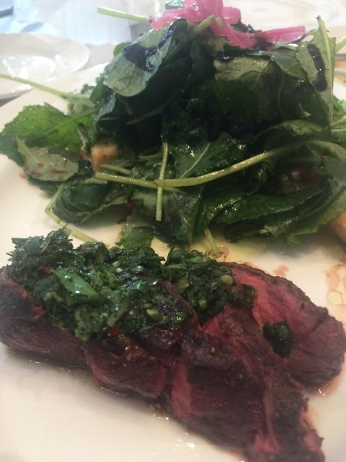 Steak and Salad - my choice