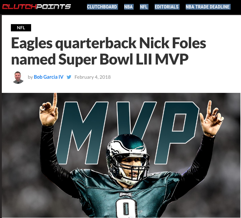 Nick Foles Clutchpoints