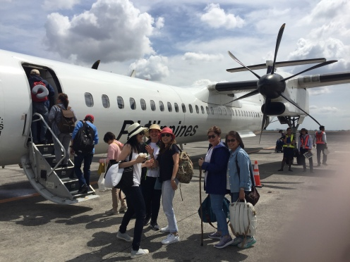 Boarding the Propeller Plane