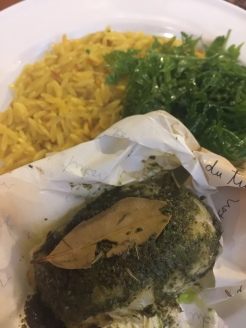 Fish en Papillote with Pesto and Thyme Orzo