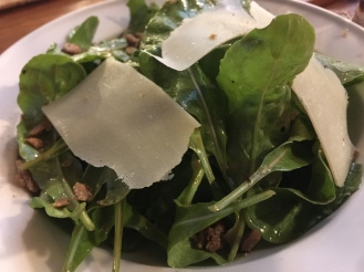 Arugula Salad with Parmesan and Calamansi Vinaigrette